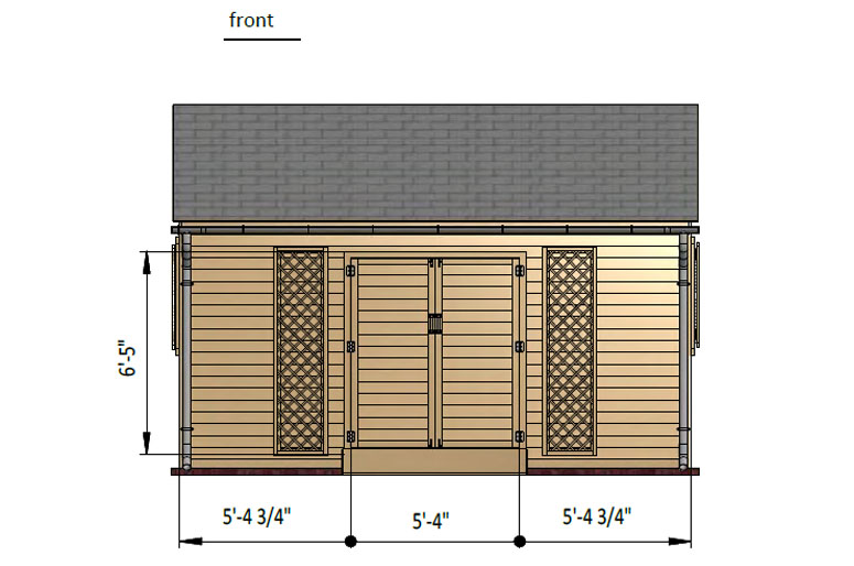 10x16 gable garden shed front side preview
