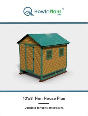 10x8 hen house plan