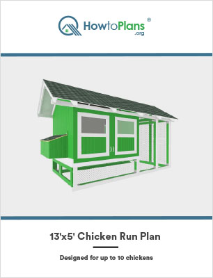 13x5 chicken run plan