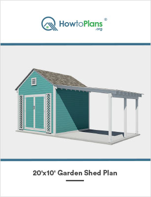 20x10 diy garden shed