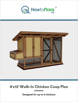 4x12 walk in chicken coop plan by howtoplans.org
