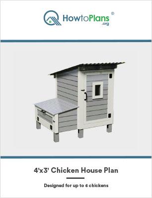 4x3 chicken house plan