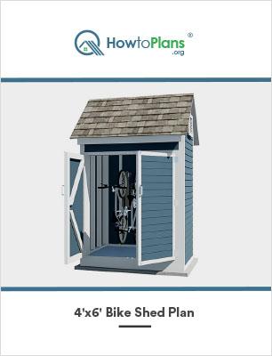 4x6 bike shed plan