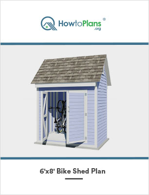 6x8 diy bike shed plan