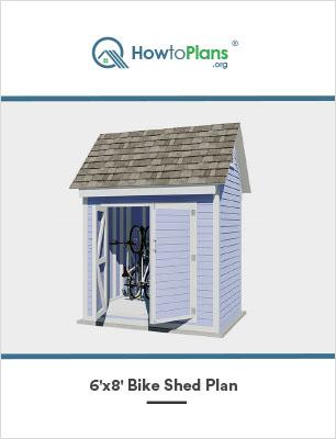 6x8 gable bike shed plan