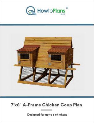 7x6 a frame chicken coop plan
