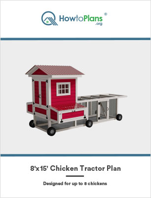 8x15 chicken tractor plan by howtoplans.org