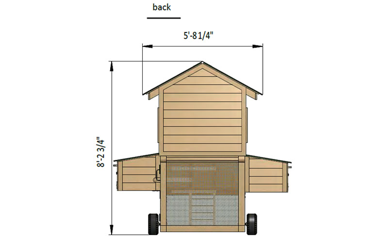 8x15 diy chicken tractor back side preview