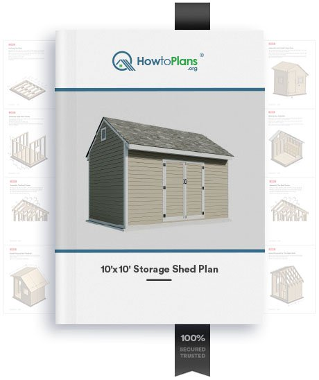 10x10 gable storage shed plan product