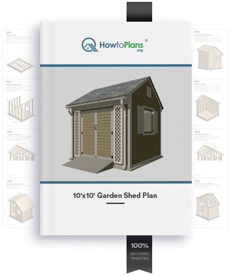 10x10 garden shed plan product