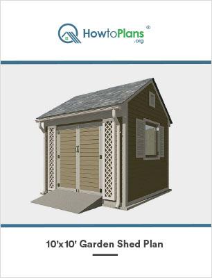 10x10 garden shed plan