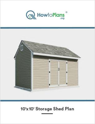 10x10 storage shed plan