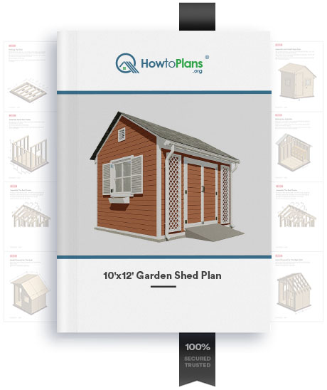 10x12 gable garden shed plan product