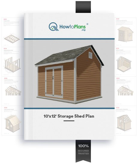 10x12 gable storage shed plan product