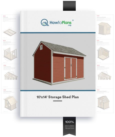 10x14 gable storage shed plan product