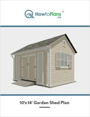 10x14 garden shed plan