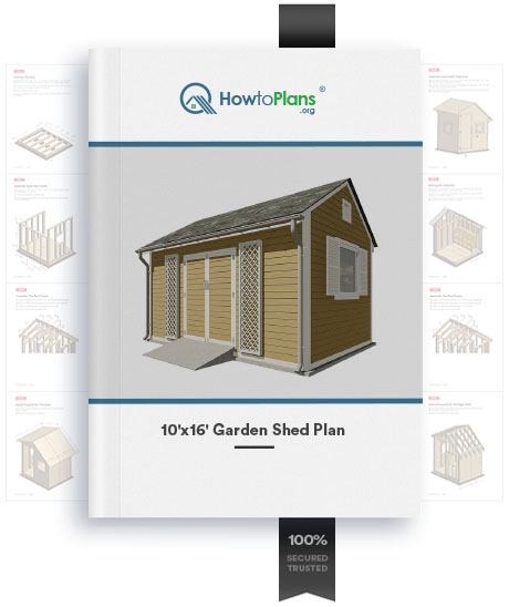 10x16 gable garden shed plan product