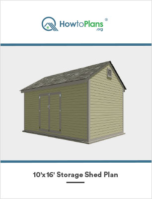 10x16 storage shed plan