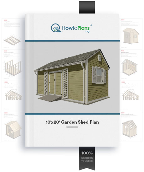 10x20 gable garden shed plan product