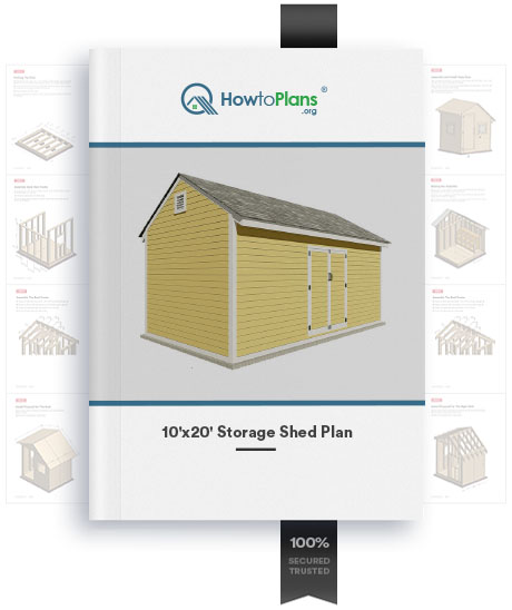 10x20 gable storage shed plan product