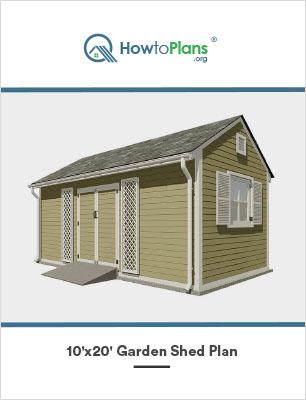 10x20 garden shed plan