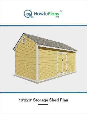 10x20 storage shed plan