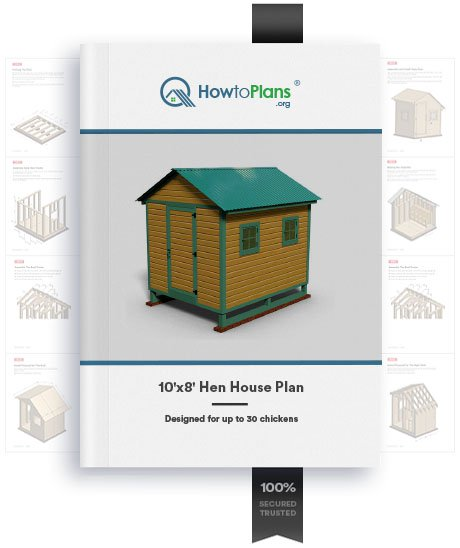 10x8 hen house plan product