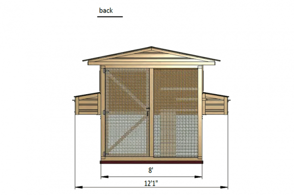 12x8 chicken run back side preview