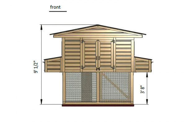 12x8 chicken run front side preview
