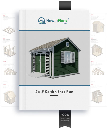 12x12 gable garden shed plan product