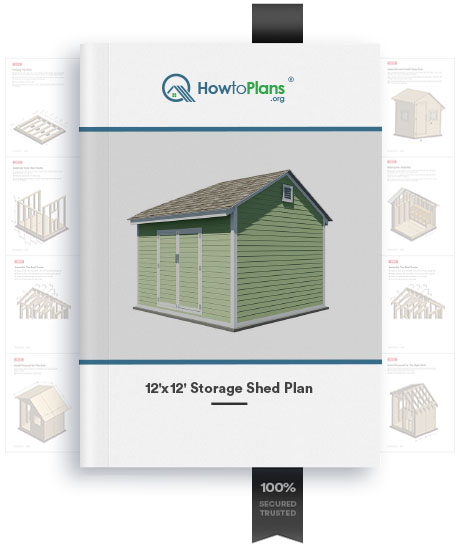 12x12 gable storage shed plan product