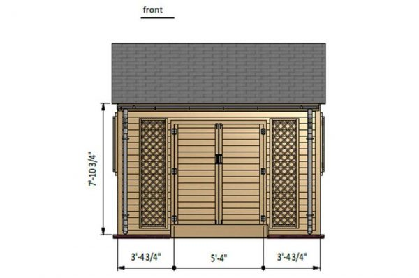 12x12 gable garden shed front side preview