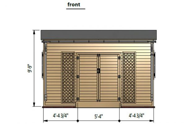 12x14 lean to garden shed front side preview