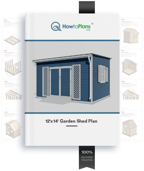 12x14 lean to garden shed plan product