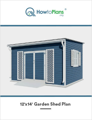 12x14 lean to garden shed plan
