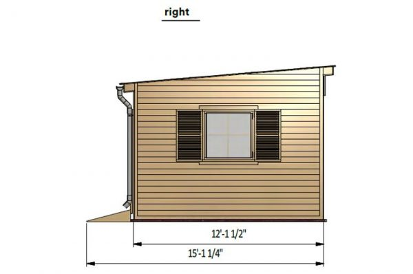 12x14 lean to garden shed right side preview