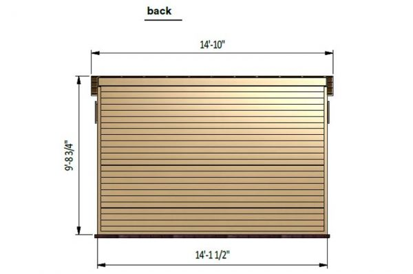 12x14 lean to storage shed back side preview