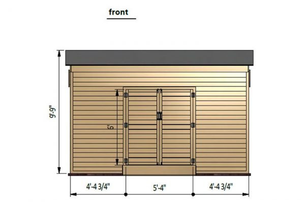 12x14 lean to storage shed front side preview