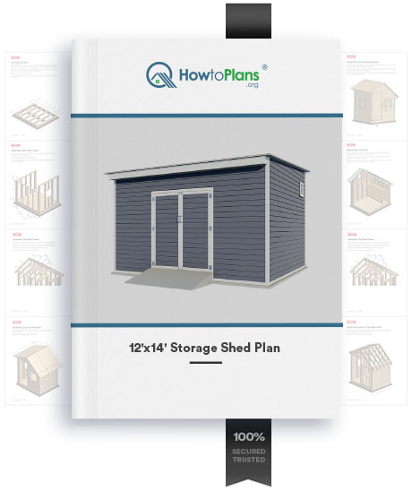 12x14 lean to storage shed plan product