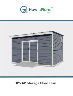 12x14 lean to storage shed plan