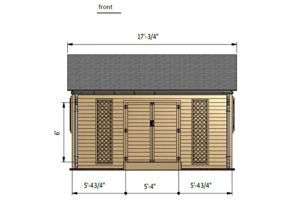 12x16 gable garden shed front side preview