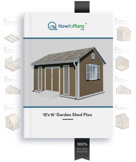 12x16 diy garden shed plan product