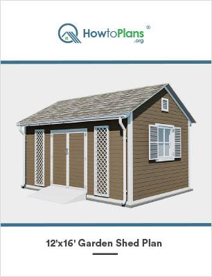 12x16 diy garden shed plan