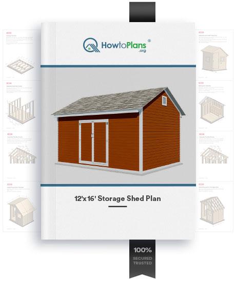 12x16 diy storage shed plan product