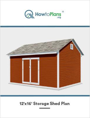 12x16 diy storage shed plan