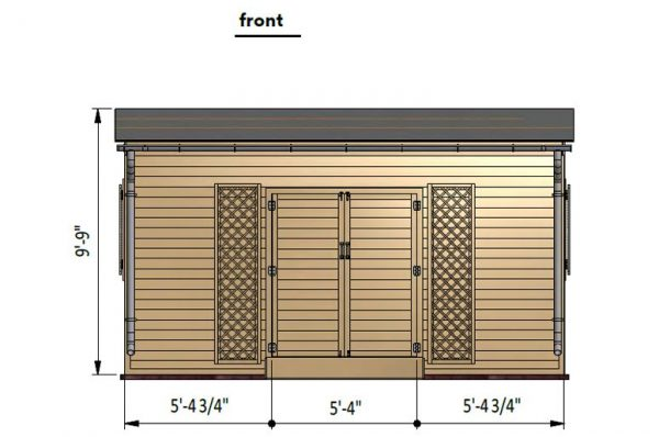 12x16 lean to garden shed front side preview