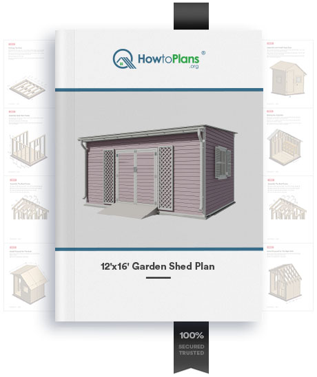 12x16 lean to garden shed plan product