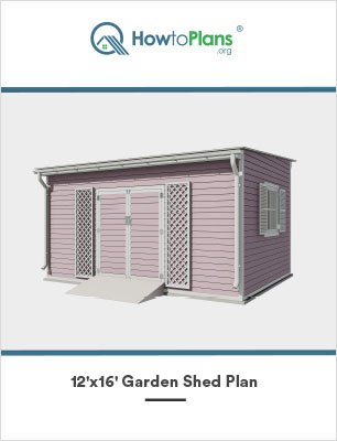 12x16 lean to garden shed plan