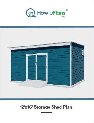 12x16 lean to storage shed plan