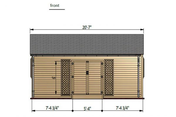 12x20 gable garden shed front side preview